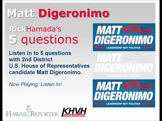 5 Questions with NEWSmaker Matt DiGeronimo, candidate for the U.S. House of Representatives