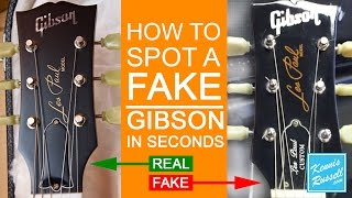 How to Spot a FAKE Gibson in Seconds!