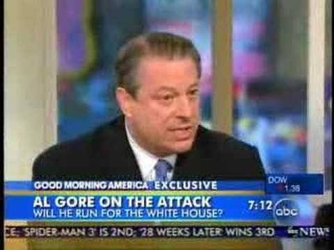 Al Gore with Diane Sawyer