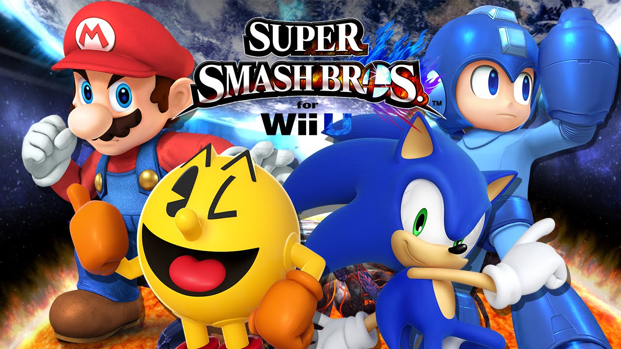 Mario Vs Sonic Vs Megaman Vs Pacman SSBWii U: Mario VS Pac...