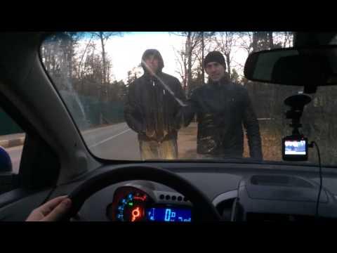 Нападение на машину #ДАЧИНГ 25.10.2014