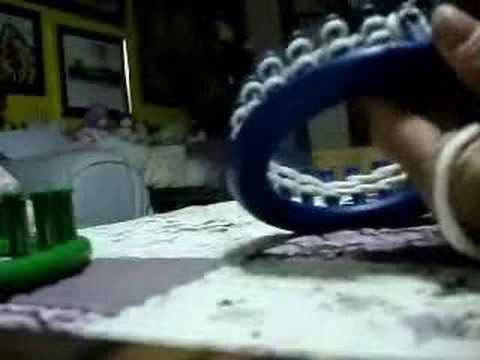 Tejiendo en Telares -  Loom Knitting - Parte 1