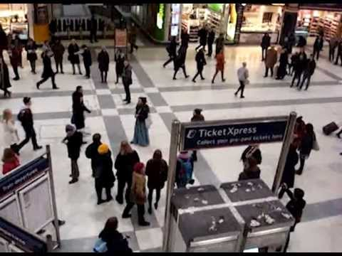 Hackney Harmony Flashmob Liverpool Street Station