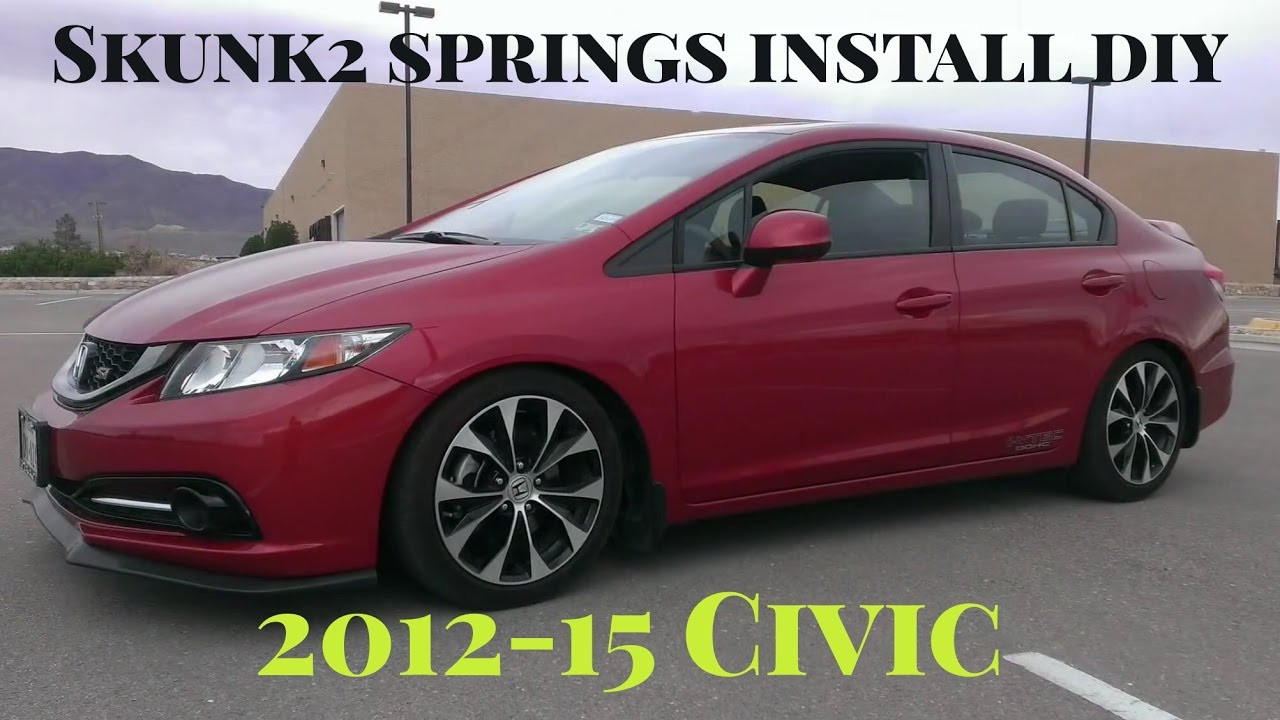 Honda Civic si 2013 Dropped Springs on 2013 Civic si