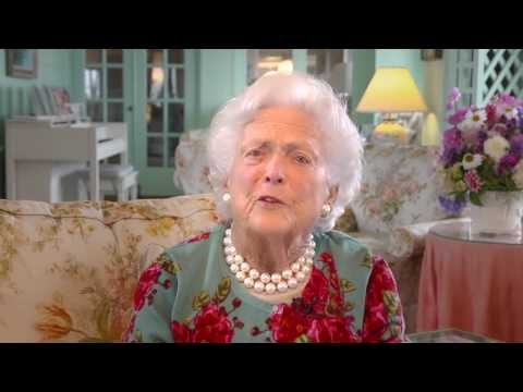 Barbara Bush Gladney Cup Greeting by Video Creations