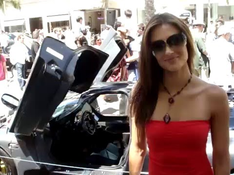 Katie Cleary with the interior of the Mosler MT900 GTR XX Twin Turbo