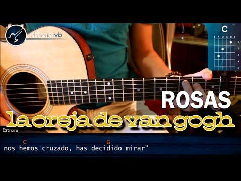 Como tocar Rosas - La Oreja de Van Gogh - En Guitarra Acustica (HD) Tutorial COMPLETO