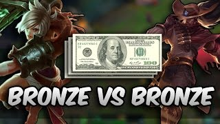Bronze vs Bronze 1v1 for $200.00 (League of Legends)