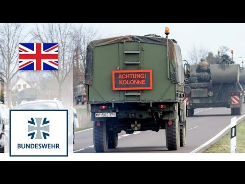 Road movement with vehicles – Bundeswehr Tanks on Public Roads