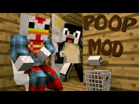 Minecraft: Poop Mod Showcase - Toilets. Paper & Poop!