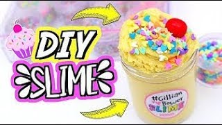 Diy Cloud Creme Cupcake Slime! Cara Membuat Cloud Creme Slime!