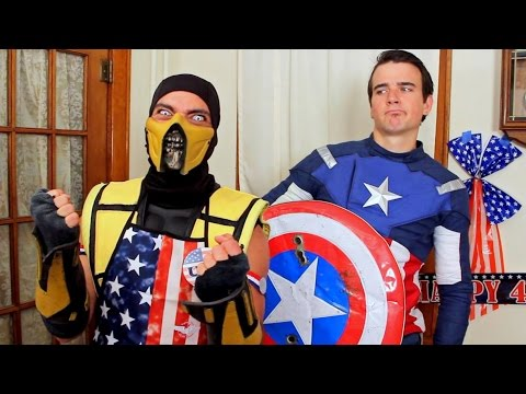 Scorpion & Captain America Ruin 4th Of July! (Cooking With Scorpion #5) Mortal Kombat & Marvel