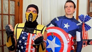 Scorpion & Captain America Ruin 4th Of July! (Cooking With Scorpion #5)