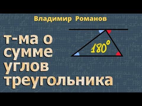Теорема о сумме углов треугольника ➽ Геометрия 7 класс ➽ Видеоурок ➽ Атанасян