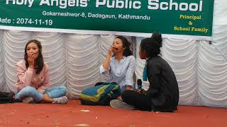 HEART TOUCHING &VERY COMEDY DRAMA AT HOLY ANGELS ' PUBLIC SCHOOL KTM NEPAL PART 2 FIRST TIME IN NEPA