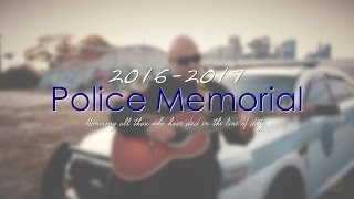 Police Memorial Tribute for Fallen Officers