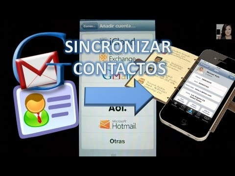 Sincronizar Contactos Gmail con el iPhone 5  4S 4 3GS 3G iPad 2 iPod Touch 4G Wi-fi