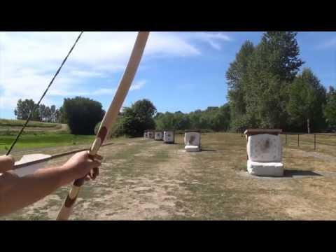 Shooting a 25 Pound Maple Longbow
