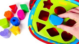 Learn Colors with Shapes and Shape Sorter Bag for Kids | Learn with Yippee Toys