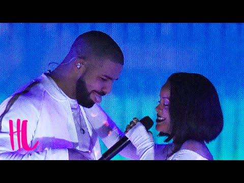 Drake Showers Rihanna With Kisses On Stage - VIDEO