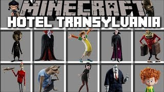 Minecraft HOTEL TRANSYLVANIA MOD / HELP UNUSUAL GUESTS AROUND THE HOTEL!! Minecraft