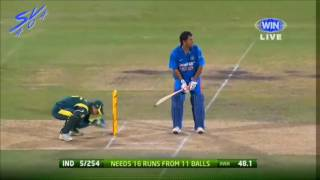 Dhone Best Finish In Cricket 119m six huge....