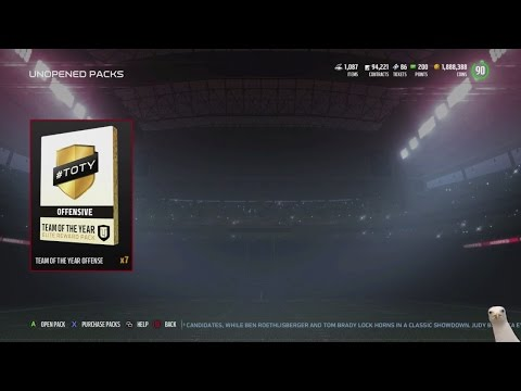 Madden 17 Ultimate Team :: 7 Team Of The Year ELITE Player Packs! :: Madden 17 Ultimate Team