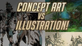 Illustration VS Concept - Why do some companies want Sketches and others want paintings?