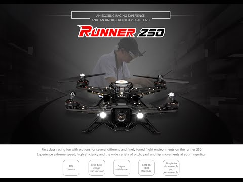 Walkera Runner 250 Size Racing Quadcopter Drone Racer Unboxing & Flight Test