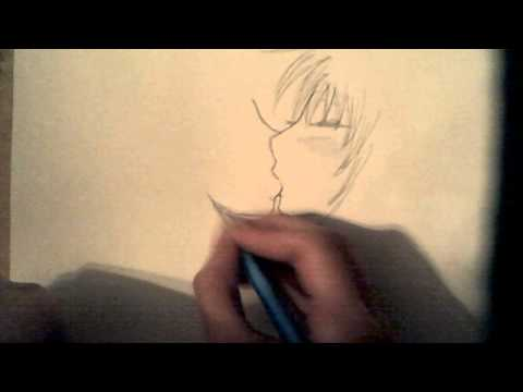 How to draw anime people kissing STEP BY STEP for beginners!
