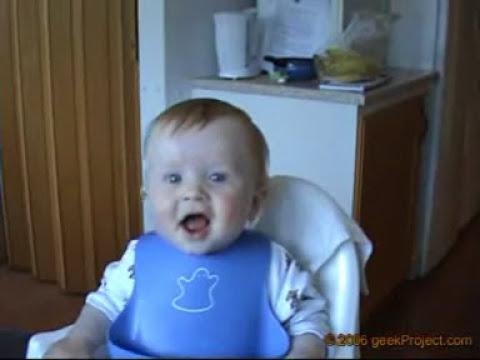 risa contagiosa de bebe - muy gracioso - reir con ganas