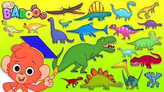 Dinosaur ABC | learn alphabet with 26 CARTOON DINOSAURS for children | animal ABC for kids 4K