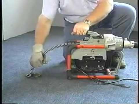 Ridgid K 60 Sectional Drain Cleaning Machine Youtube