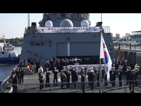 South Korean Destroyer ROKS Dae Jo Yeong Berths In Old Port Of Montreal 12