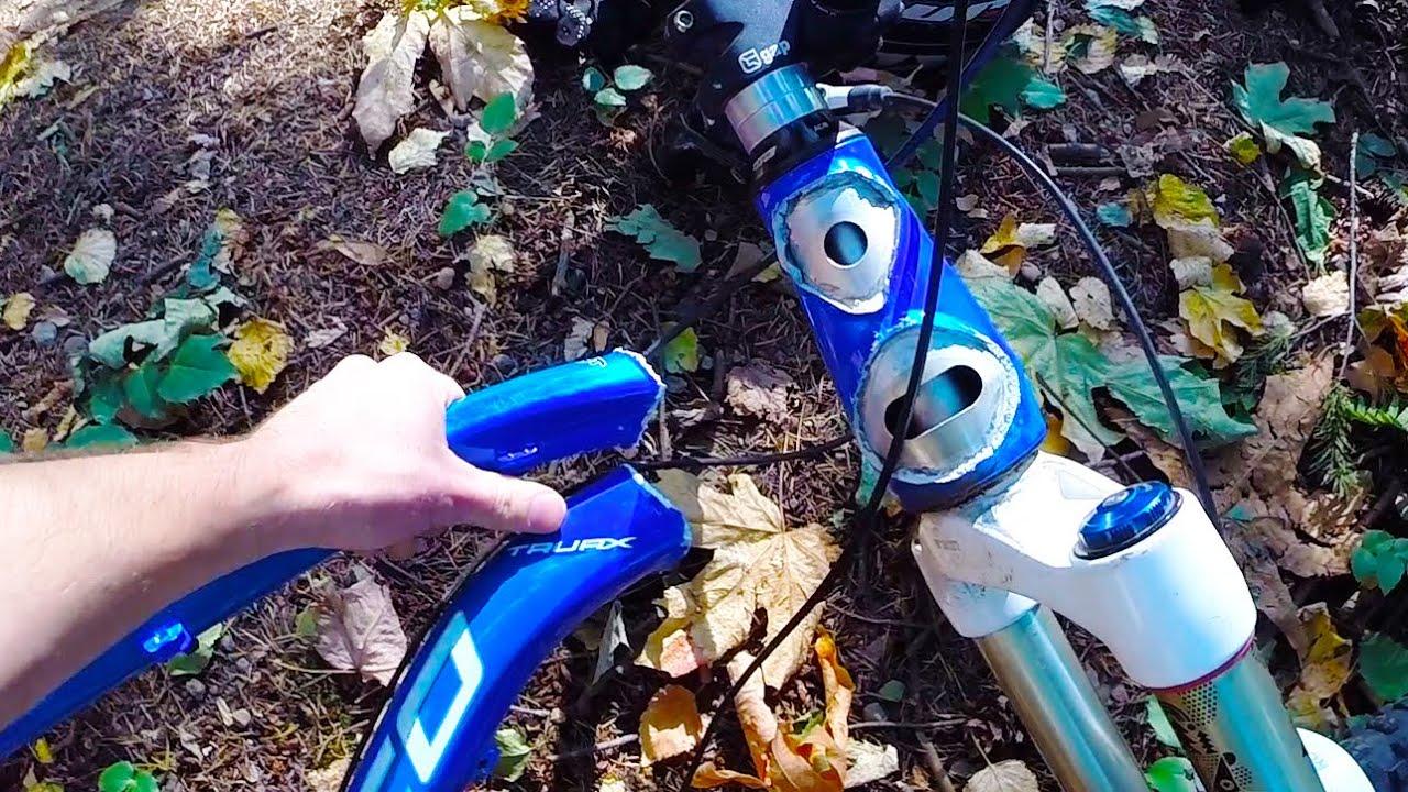 Destroyed Bike Frame Big Crash Norco Mtb Into Tree Go