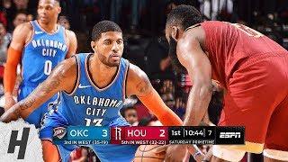 Oklahoma City Thunder vs Houston Rockets - Full Game Highlights | February 9, 2019 | 2018-19 Season