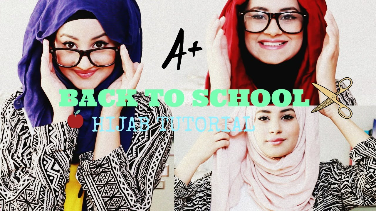 Quick And Simple Hijab Tutorial Back To School Hijab Hills Youtube