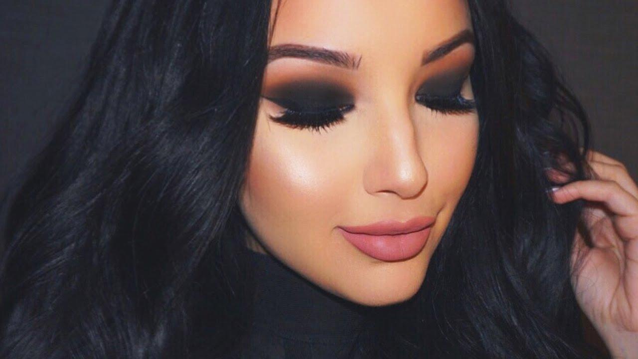 Какой макияж под черные волосы