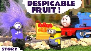 Funny Minions with Thomas & Friends Despicable Me Gru and Grossery Gang Fruit Toy Story TT4U