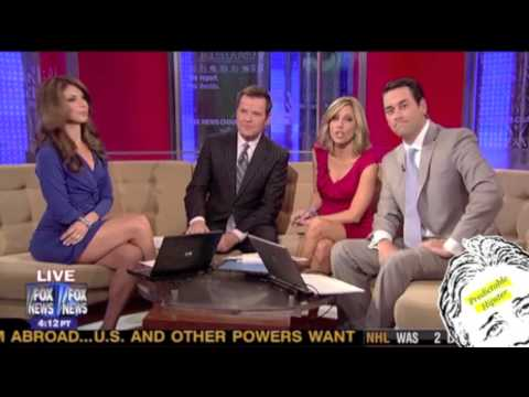 Fox Anchor Pulls Up Skirt...while on air! Music Videos