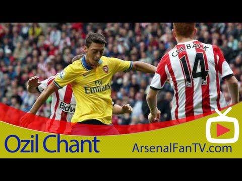 Arsenal FC Mesut Ozil Chant At Debut Match  V Sunderland - ArsenalFanTV.com