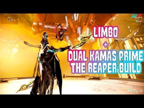 warframe limbo dual kamas prime the reaper build warframe