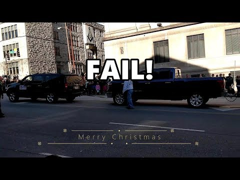 Nissan Titan FAILS at Christmas Parade.. Chevrolet Suburban saves the Day!