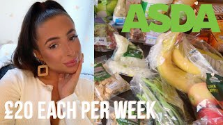 £20 A WEEK ASDA HEALTHY FOOD HAUL & MEAL IDEAS | Affordable & Budget Healthy Living