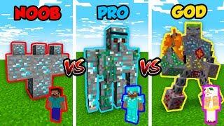 Minecraft NOOB vs. PRO vs. GOD: ORE BOSS in Minecraft! (Animation)