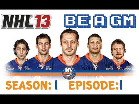 NHL 13 Be A GM - New York Islanders S:1 EP:1