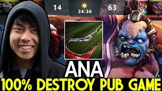 ANA [Pudge] Pro Pudge Mid 100% Destroy Pub Game 7.22 Dota 2