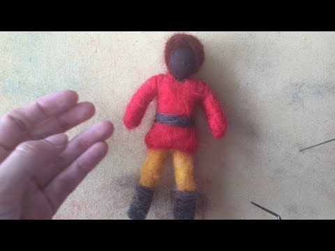 Waldorf Needle Felted Pipe Cleaner Doll; Pt 2, The Body