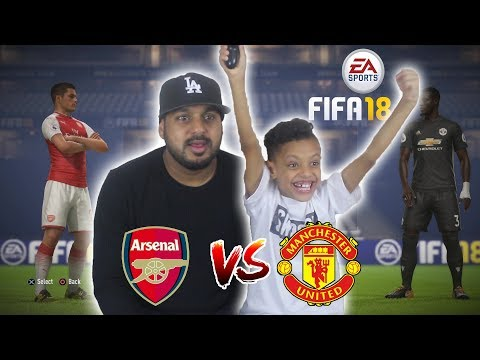 ARSENAL VS MANCHESTER UNITED!! FIFA 18 CHALLENGE VS MY DAD!!