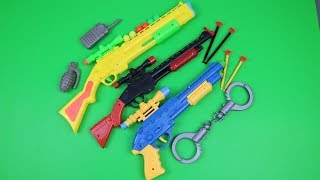 Box Full of Toys! Many Colored  Equipment Guns